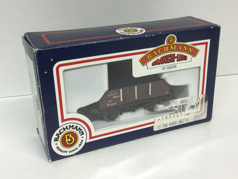 Bachmann 33-225 OO Gauge 12t Shock-Absorbing Wagon Hybar BR Brown