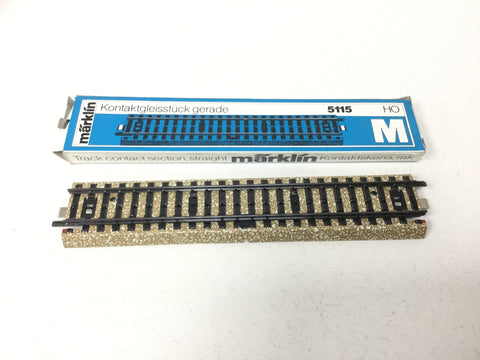 Marklin 5115 HO Gauge M Track Straight Contact (NEW)