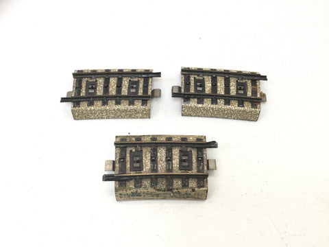Marklin 3601 A1/4 HO Gauge M Track Small Curves x3