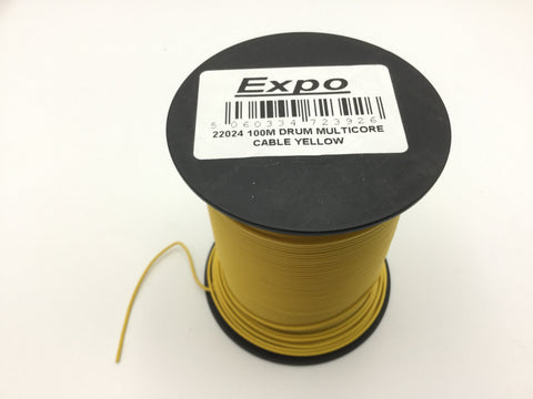 Expo 22024 Multicore Layout Wire Yellow 100m Roll
