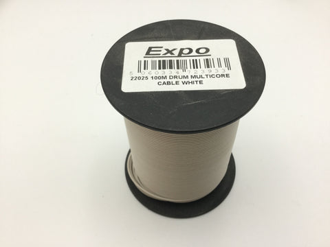 Expo 22025 Multicore Layout Wire White 100m Roll