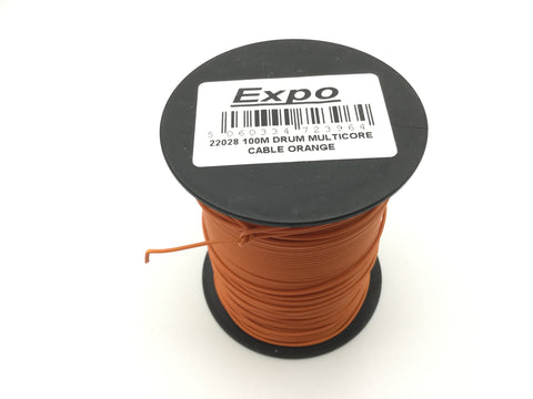 Expo 22028 Multicore Layout Wire Orange 100m Roll