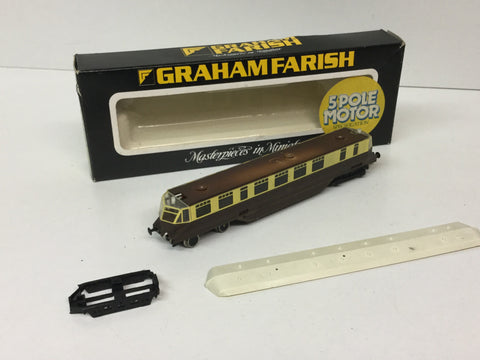 Graham Farish 8174 N Gauge GWR Diesel Railcar (Needs Attn)