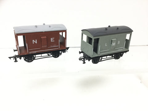 Graham Farish 13021/13022 OO Gauge LMS/NE Brake Vans