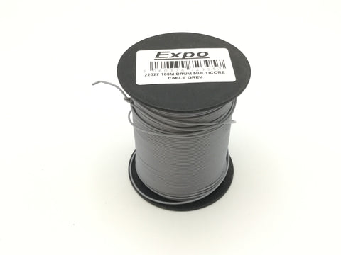 Expo 22027 Multicore Layout Wire Grey 100m Roll