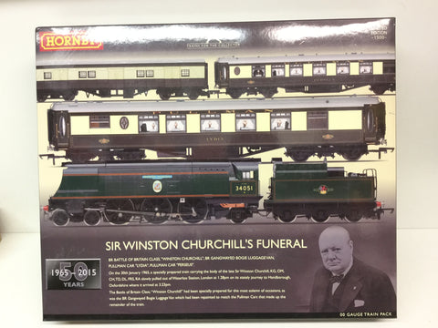 Hornby R3300 OO Gauge Sir Winston Churchill's Funeral Train Pack