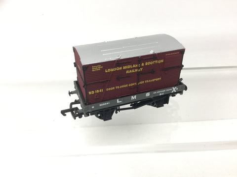 Bachmann 33-975 OO Gauge 1 Plank Wagon LMS Container