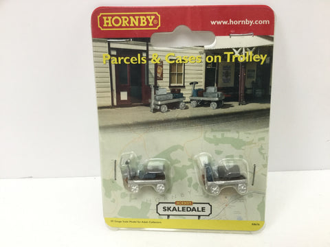 Hornby R8676 OO Gauge Parcels & Cases on Trolley