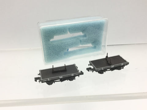 Peco NR-39M N Gauge Twin LMS 10ft Single Bolster Wagons 14555 (2 Wagons)