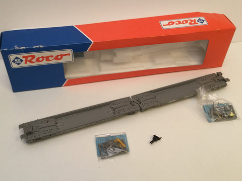 Roco 46590 HO Gauge SBB CFF Twin Flat Wagons (No Load)