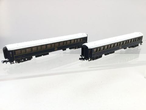 Rivarossi 9554 N Gauge CIWL Sleeping Car/Coach x2