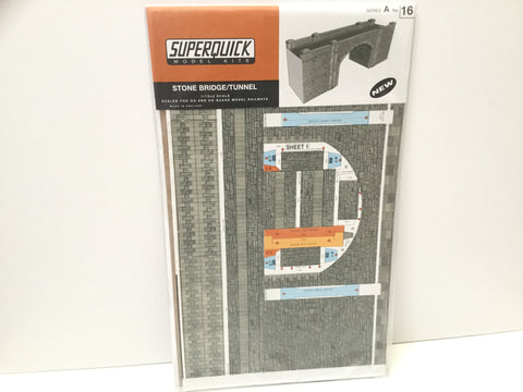 Superquick A16 OO Gauge Stone Bridge/Tunnel Entrance Card Kit