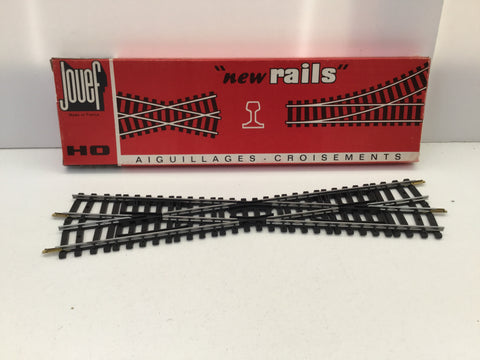 Jouef 4847 HO Gauge 14 Degree Diamond Crossing Steel Rails