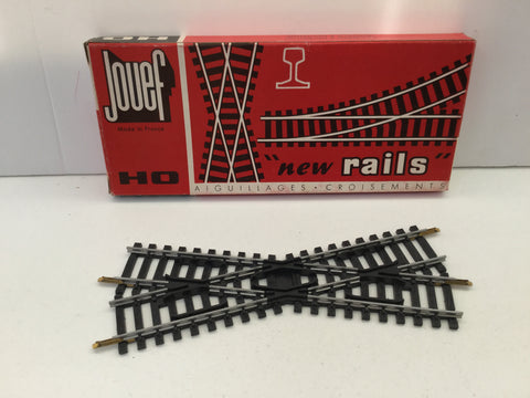 Jouef 4849 HO Gauge 22 Degree Diamond Crossing Steel Rails