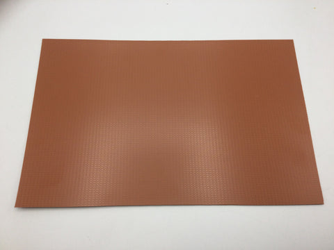 Slaters 0399 4mm/OO Gauge English Bond Brick Red Embossed Plastikard Sheet