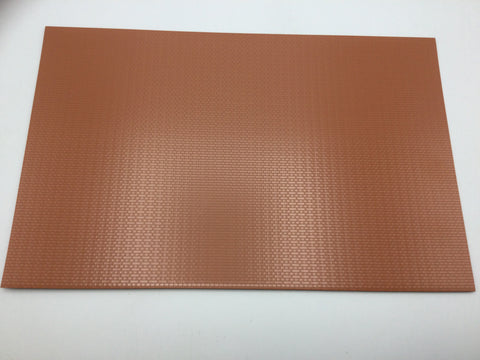 Slaters 0400 7mm/O Gauge English Bond Brick Red Embossed Plastikard Sheet