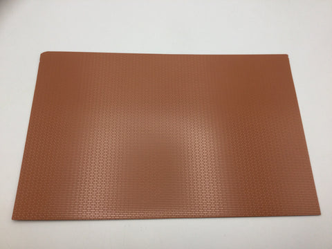 Slaters 0410 7mm/O Gauge Flemish Bond Brick Red Embossed Plastikard Sheet
