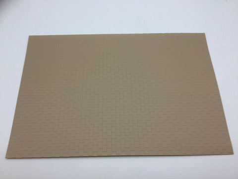 Slaters 0414 4mm/OO Gauge Paving Grey Embossed Plastikard Sheet