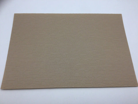 Slaters 0424 4mm/OO Gauge Dressed Stone Grey Embossed Plastikard Sheet