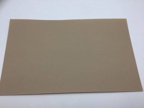 Slaters 0433 2mm/N Gauge Spaced Planking Grey Embossed Plastikard Sheet
