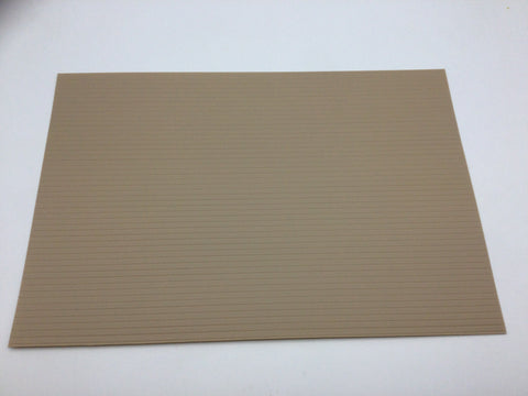 Slaters 0434 4mm/OO Gauge Spaced Planking Grey Embossed Plastikard Sheet