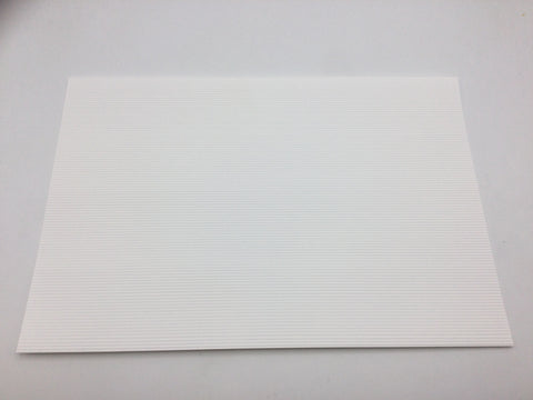 Slaters 0437 7mm/O Gauge Corrugated White Embossed Plastikard Sheet