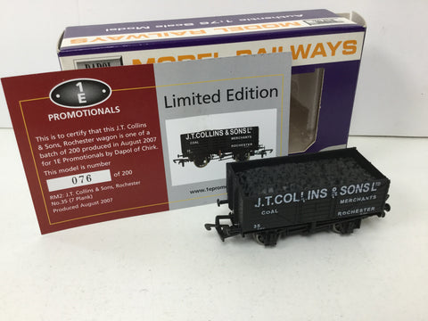 Dapol/1E OO Gauge 7 Plank Wagon JT Collins, Rochester