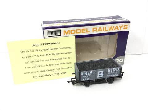 Dapol/Wessex Wagons OO Gauge 5 Plank Wagon A H&S Bird, Trowbridge