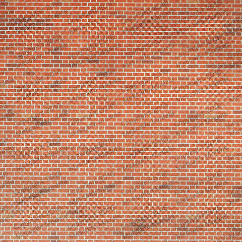 Metcalfe M0054 OO/HO Gauge Red Brick Sheets