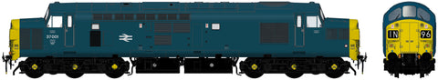 Accurascale 230437001DCC OO Gauge BR Blue Class 37 No 37001 DCC SOUND