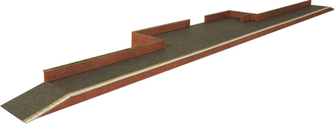 Metcalfe PO216 OO/HO Gauge Platform - Red Brick Card Kit