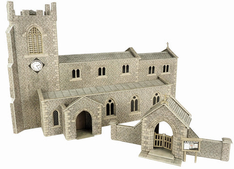 Metcalfe PO226 OO/HO Gauge Parish Church Card Kit