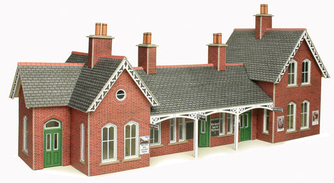 Metcalfe PO237 OO/HO Gauge Country Station Card Kit