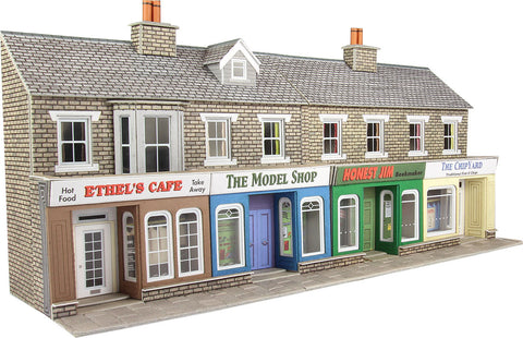 Metcalfe PO273 OO/HO Gauge Low Relief Shops - Stone Card Kit