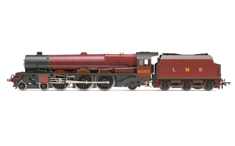 Hornby R30001X OO Gauge LMS, Princess Royal, 4-6-2, 6203 'Princess Margaret Rose' (with flickering firebox) - Era 3