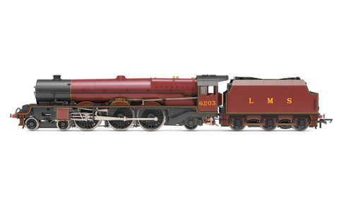Hornby R30001 OO Gauge LMS, Princess Royal, 4-6-2, 6203 'Princess Margaret Rose' (with flickering firebox) - Era 3