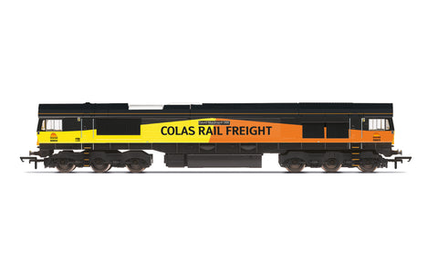 Hornby R30019 OO Gauge Colas, Class 66, Co-Co, 66850 'David Maidment OBE' - Era 11