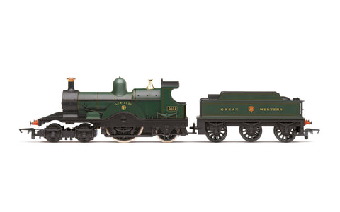 Hornby R3759 OO Gauge GWR Green Class 3031 Dean Single 4-2-2 Achilles