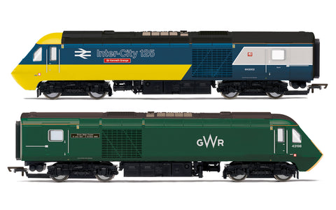 Hornby R3770 OO Gauge GWR, Class 43 HST, Power Cars 43002 'Sir Kenneth Grange' and 43198 - Era 11