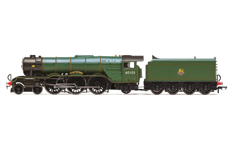 Hornby R3991 OO Gauge BR, A3 Class, 4-6-2, 60103 'Flying Scotsman' (diecast footplate and flickeirng firebox) - Era 4