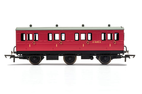 Hornby R40123 OO Gauge BR, 6 Wheel Coach, 1st Class, Fitted Lights, E41373 - Era 4