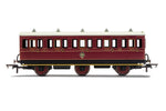 Hornby R40136 OO Gauge NBR, 6 Wheel Coach, 3rd Class, Fitted Lights, 1169 - Era 2