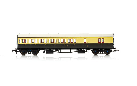 Hornby R4876 OO Gauge GWR Collett Bow Ended Brake 3rd LH Coach 4971