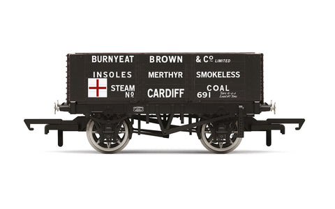 Hornby R60025 OO Gauge 6 Plank Wagon, Burnyeat Brown & Co. - Era 2