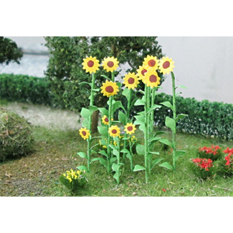 Tasma Products 00676 OO/HO Gauge Sunflowers (Pack 16)