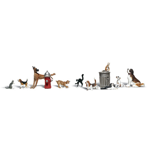 Woodland Scenics A2725 O Gauge Dogs & Cats