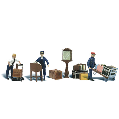 Woodland Scenics A2757 O Gauge Depot Workers & Accessories