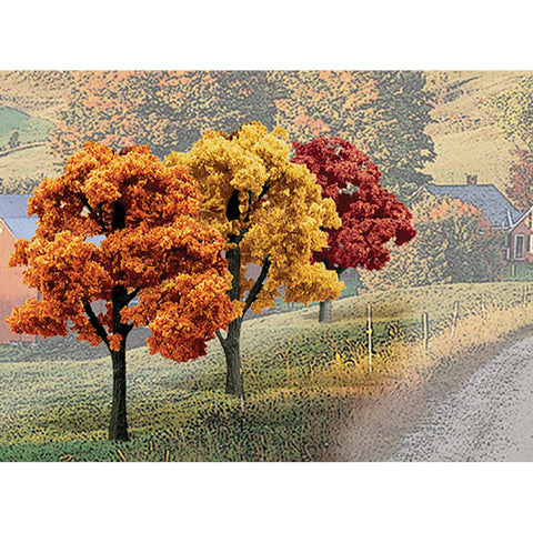 "Woodland Scenics TR1577 3""-5"" Fall Colours Trees Value Pack (14/Pk)"
