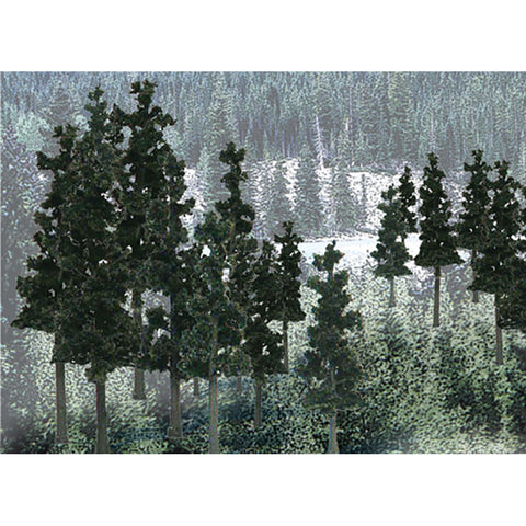 "Woodland Scenics TR1580 2 1/4""-4"" Conifer Colours Pine Trees Value Pack (33/Pk)"