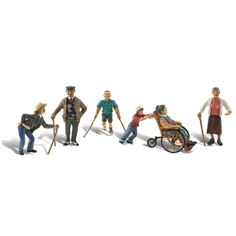 Woodland Scenics A1946 HO/OO Gauge Physically Challenged Figures